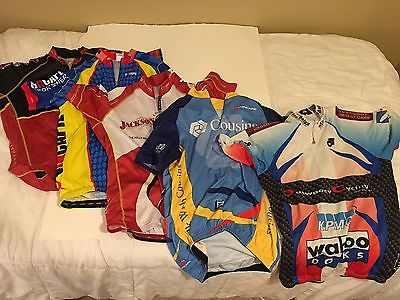 Group of Five Cycle Jerseys Size Large