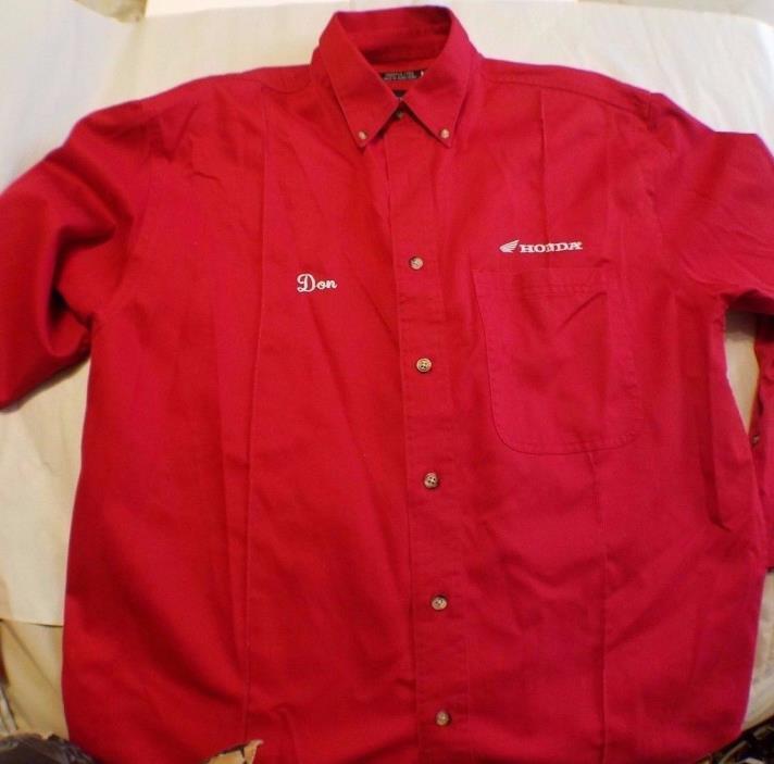 Honda Motorcycle shirt long sleeve size M  free shipping name on shirt Don