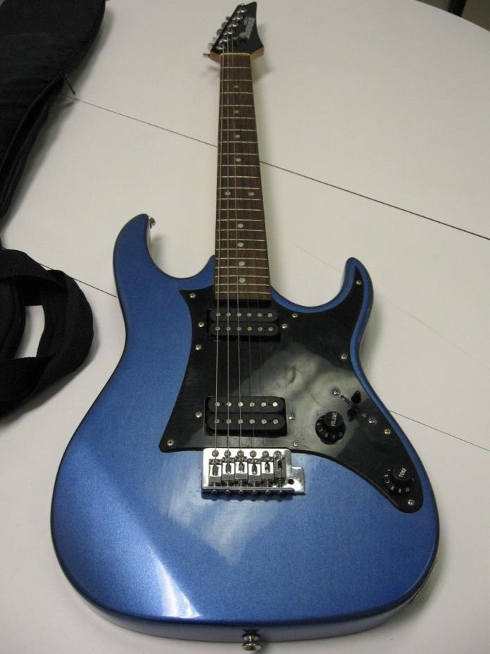 rmk99 Ibanez Gio 6 String Electric Guitar Metallic Blue w/ Soft Carry Case