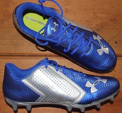 Under Armour Blur Phantom MC Molded Football Cleats Blue/Silver Men's Size 10.5