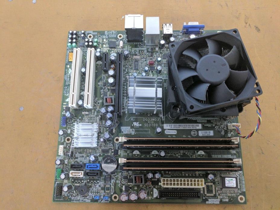 Dell Inspiron 530 Vostro 200 400 MT FM586 Motherboard Q8300 4GB Ram