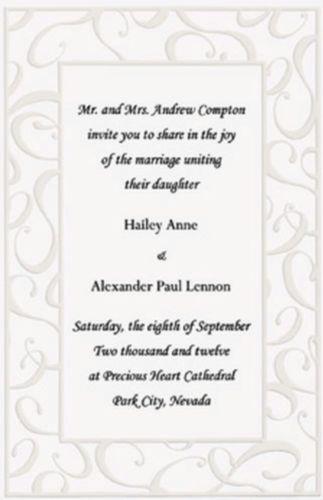 Wilton Wedding Invitation Kit Elegant Swirls