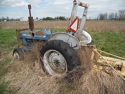 Vintage Ford 2000 Industrial Diesel Tractor with Bush Hog
