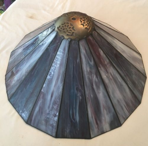 purple Stained Glass Lamp Shade  18
