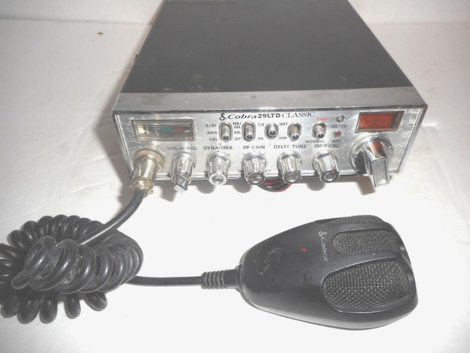 COBRA 29 LTD CLASSIC 40 CHANNEL CB RADIO WITH MIC AND POWER CORD SEE PICS