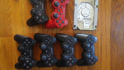 Lot of PS3 SONY Defective controllers & a 40 GB Sony Hard drive SOLD AS IS