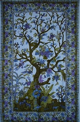 Tree of Life Tapestry Cotton Bedspread 104