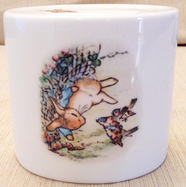 Wedgwood Beatrix Potter Peter Rabbit Ceramic Piggy Bank 1991