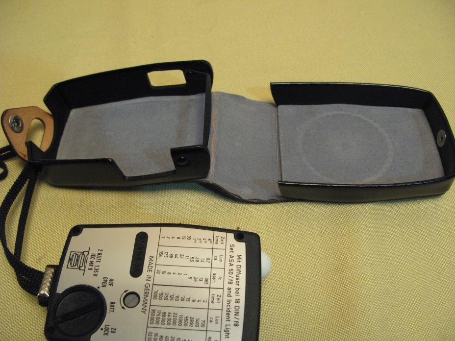 Gossen Sixtar 2 Exposure meter sbc Belichtunsmesser w leather case & manual Mint