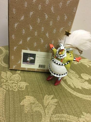Patience Brewster Krinkles Mini French Hen Ornament    NIB