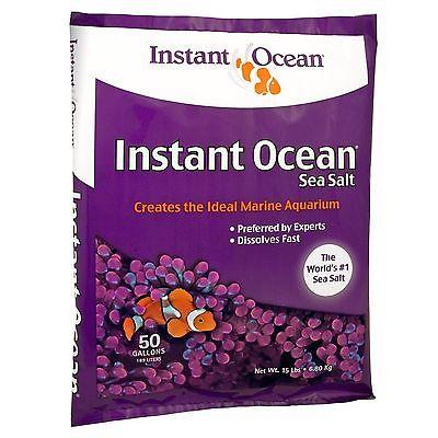 Instant Ocean Sea Salt 50 Gallons  15 lbs open bag not in original package
