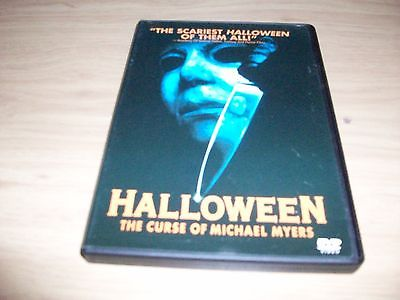 HORROR MOVIE: HALLOWEEN 6: THE CURSE OF MICHAEL MYERS! USED & IN EX COND!!!!!