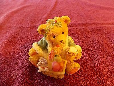 Cherished Teddies Bear Garland Ghost of Christmas Past Fruit Basket 614807 1994