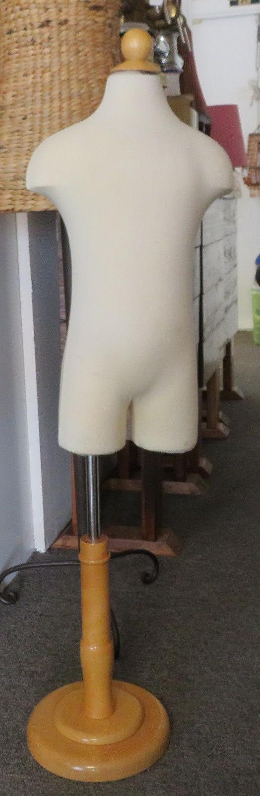 Vintage Size 3 4 Yrs Unisex Child Toddler Dress Form Mannequin wood monopod