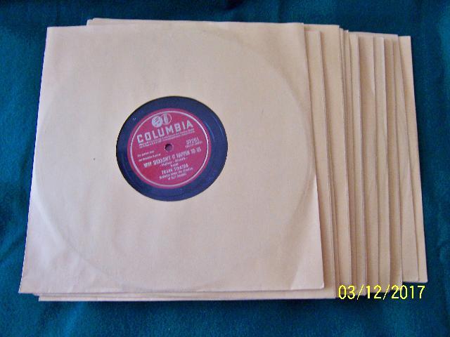 Sinatra 78rpm. Records