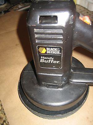 Black & Decker Handy Buffer/Random Polisher #9555 plus 3 pads & free hand washer