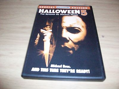 HORROR MOVIE: HALLOWEEN 5: THE REVENGE OF MICHAEL MYERS! USED & IN EX COND!!!!!