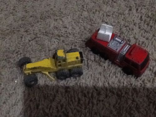 Vintage 1994 Tonka Grader And Fire truck-4