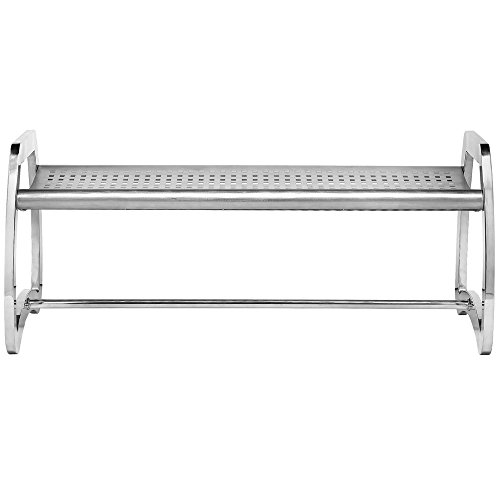 Commercial Zone 725329 Skyline Series 6' Stainless Steel Indoor / Outdoor Bench