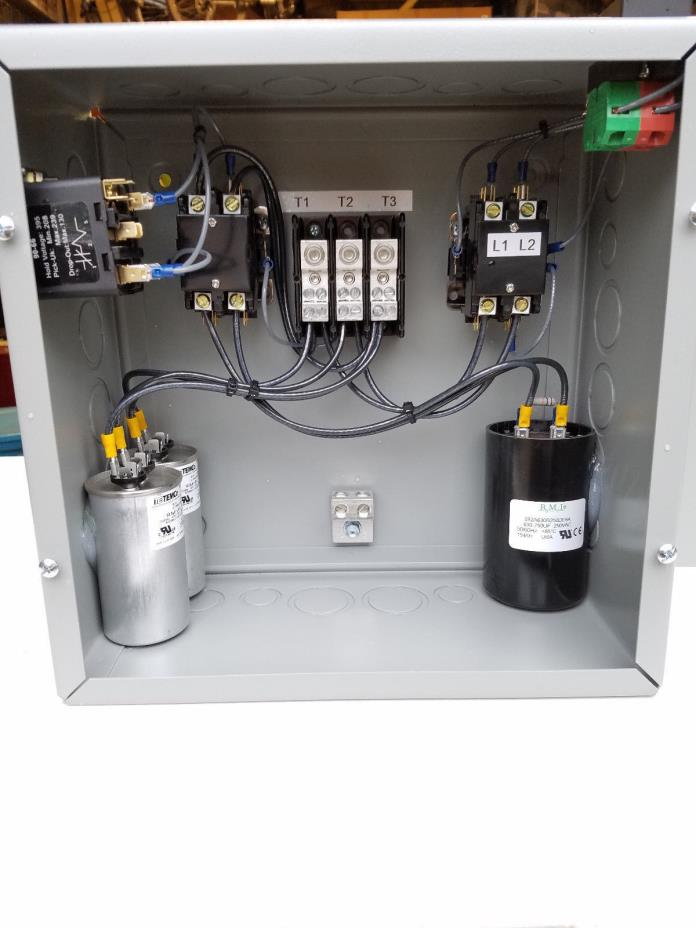 10hp 3 Phase Rotary Converter Panel