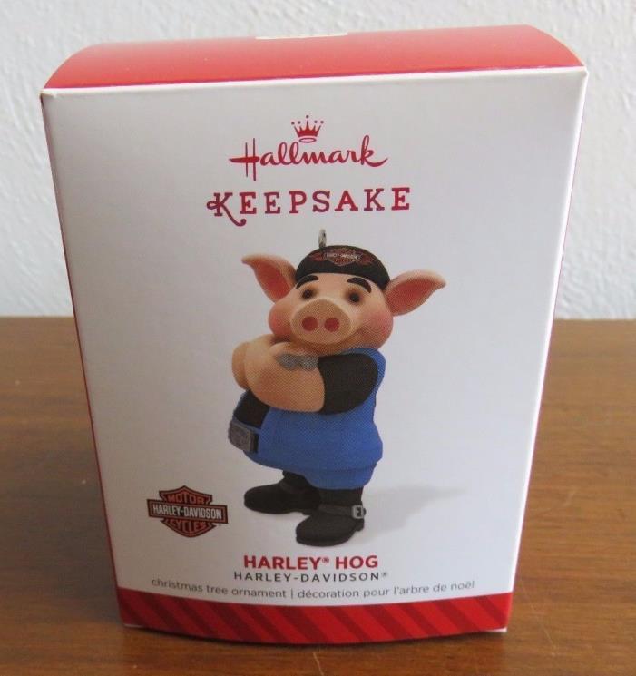 Hallmark Keepsake Ornament Harley Davidson Hog Motorcycle Pig Christmas 2014
