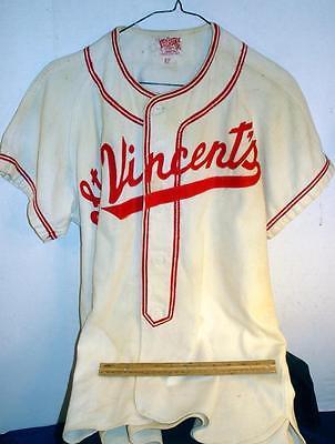 RARE 1920s-40 St Vincents School Baseball Wool Jersey Game Uniform Varsity Sport