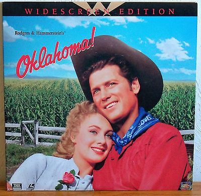 OKLAHOMA! - ROGERS & HAMMERSTEIN MUSICAL - GATE-FOLD - 2 DISCS - WS - LASERDISC