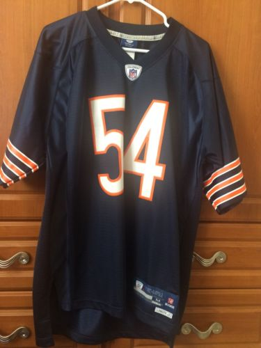 Men's Medium Chicago Bears Brian Urlacher #54 Reebok NFL Jersey