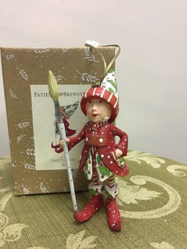 Patience Brewster Krinkles Vixen's Painter Elf Ornament    NIB