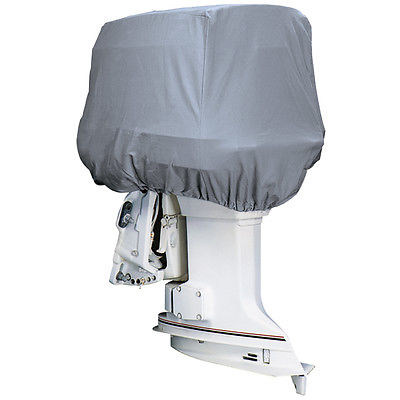 Attwood Road Ready™ Cotton Heavy-Duty Canvas Cover f/Outboard Motor Hood up to 2