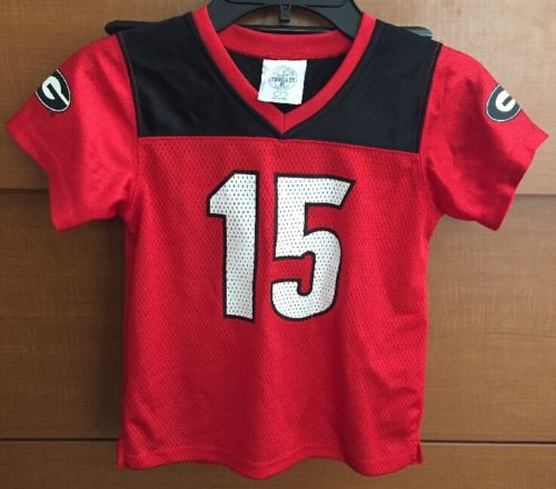 NWOT Toddler Boy/Girl #15 Georgia Bulldogs Jersey Shirt 4T