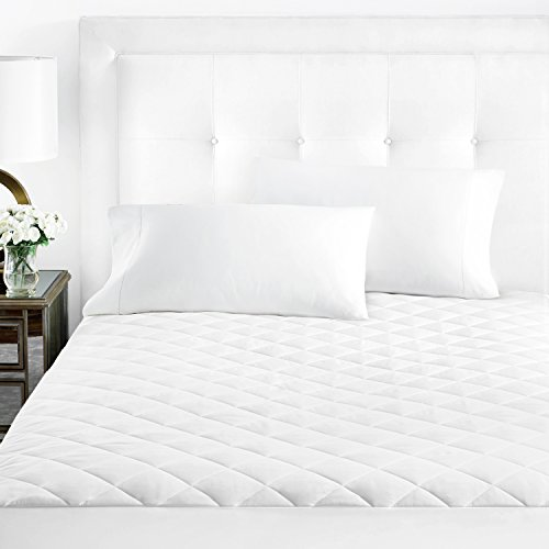 Sleep Restoration Fitted Microfiber Mattress Pad Cover - Quilted and