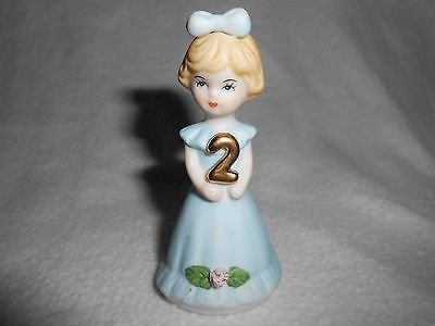 Enesco 1981 Growing Up Series 2 Year Old Birthday Girl