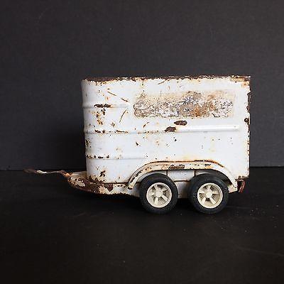 Vintage Metal Tonka Horse Trailer Rusty