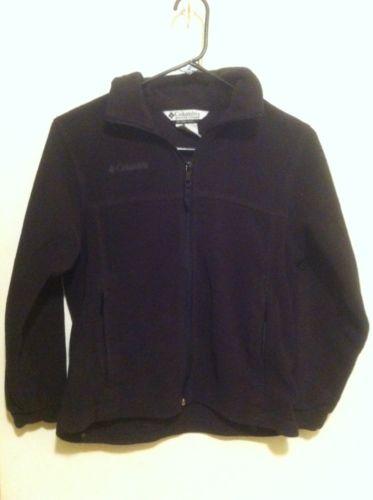 Columbia Fleece Full Zip Black Size 10/12 Youth