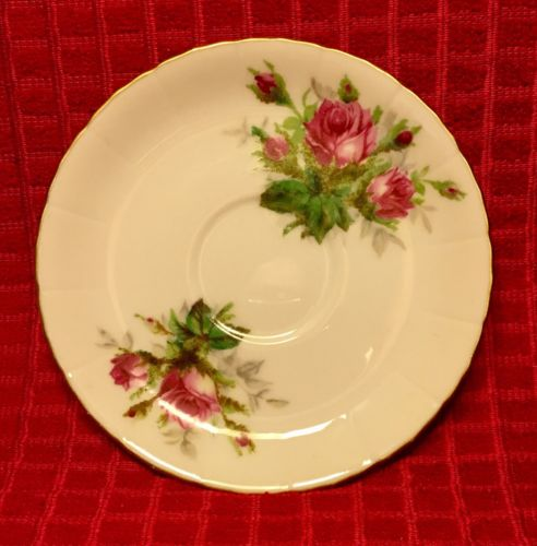 Vintage Rossetti Antique Rose Chicago USA Saucer Hand Painted Japan