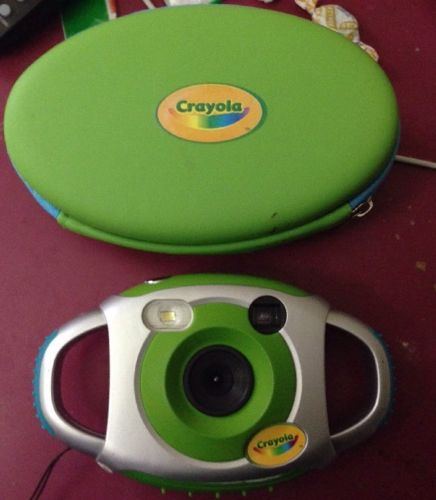 Crayola Digital Camera With Case Green & Silver Great Condition