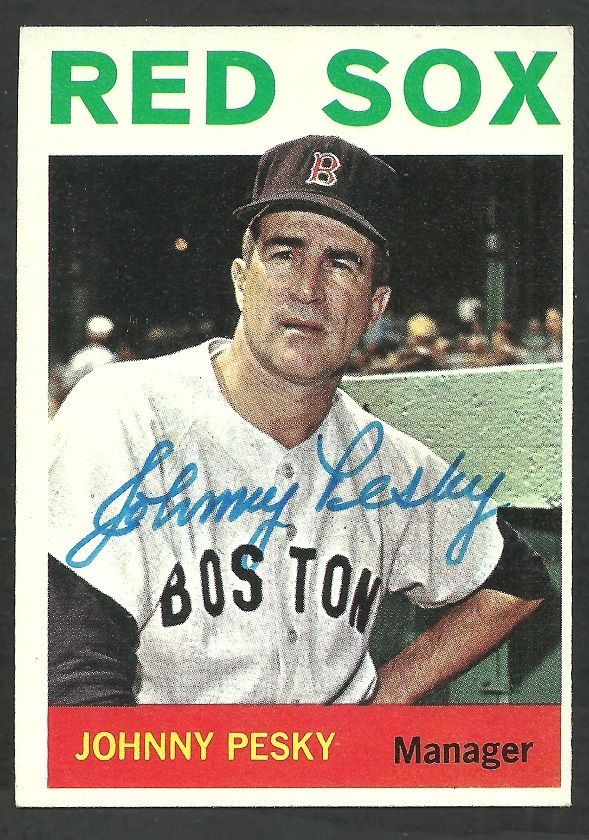 Boston Red Sox Johnny Pesky (1919-2012) Autograph Signed 1964 Topps 248