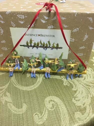 Patience Brewster Krinkles 10 Pipers Piping Ornament