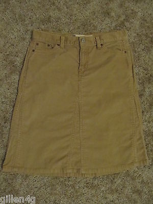 GAP JEANS TAN CORDUROY SKIRT JR GIRLS SIZE 4 CLOTHES NICE