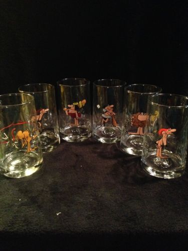 EXC COND SET of 6 Arby's B.C. ICE AGE COLLECTOR SERIES Tumblers Glasses 1981 5
