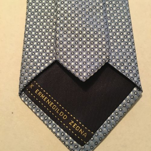 Ermenegildo Zegna Men Silk Neck Tie Blue