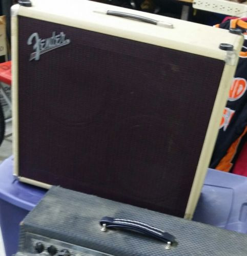 Old Fender Vibro Sonic King 2 x 12 guitar amp blonde vg/c w/cover