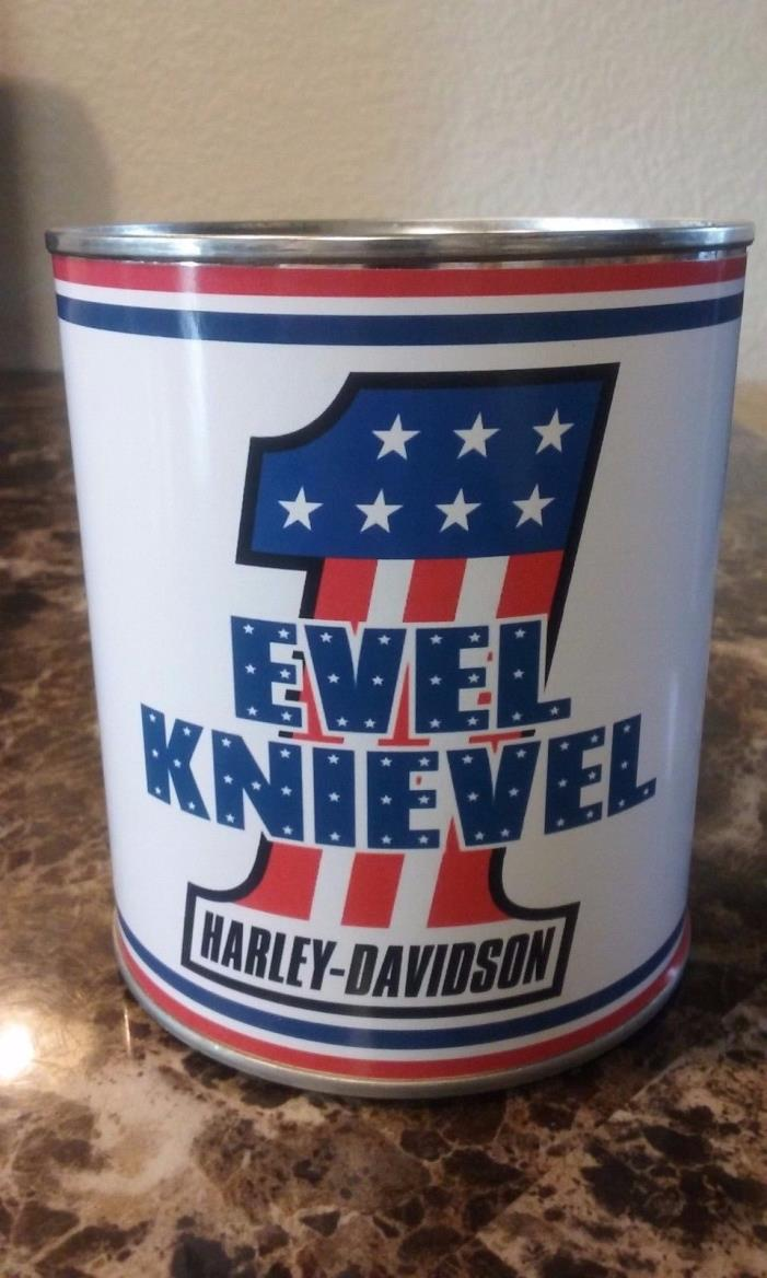 Harley Davidson / EVEL KNIEVEL Oil Can 1 qt. ( Stashcan ) - Reproduction oil can