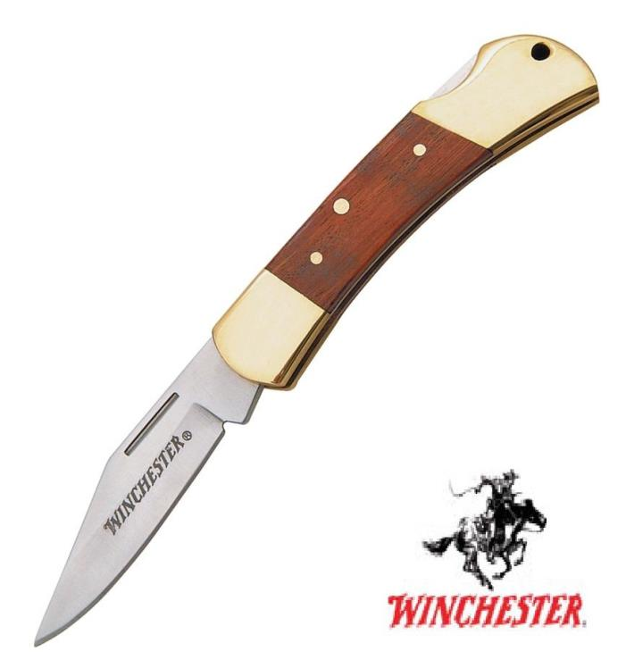 Winchester Lockback pocket knife Wood Handle Folding Hunter Free Shipping USA