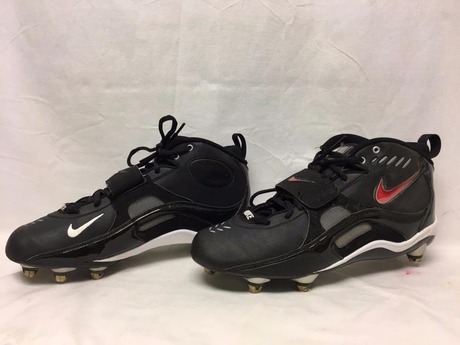 Nike Cleats Mens U.S. Size 10.5 Black Football Athletic Spikes