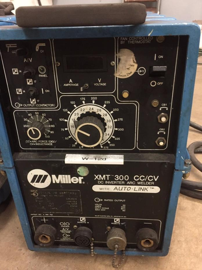 Miller XMT 300 CC/CV Inverter Welder mig, tig, stick, and carbon arc
