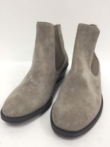 14TH & UNION gray taupe suede ankle boots Size 4.5 Medium