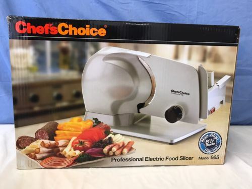 Chef's Choice 665 Professional Electric Food Slicer, Gray New