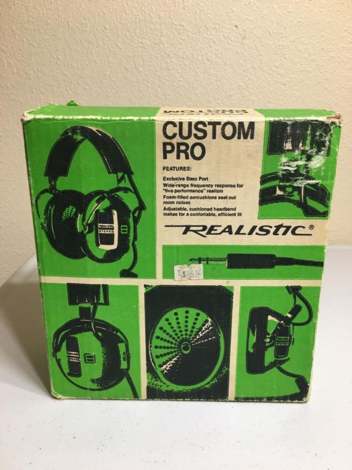 Vintage Realistic Custom Pro Headphones 33-1002
